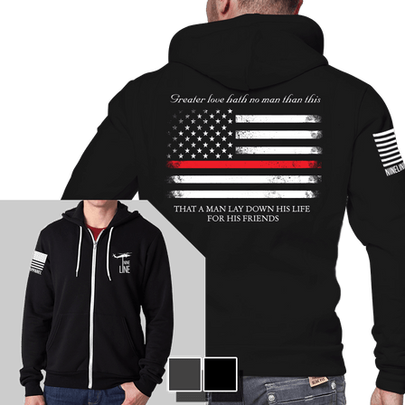 Full-Zip Hoodie - Thin Red Line
