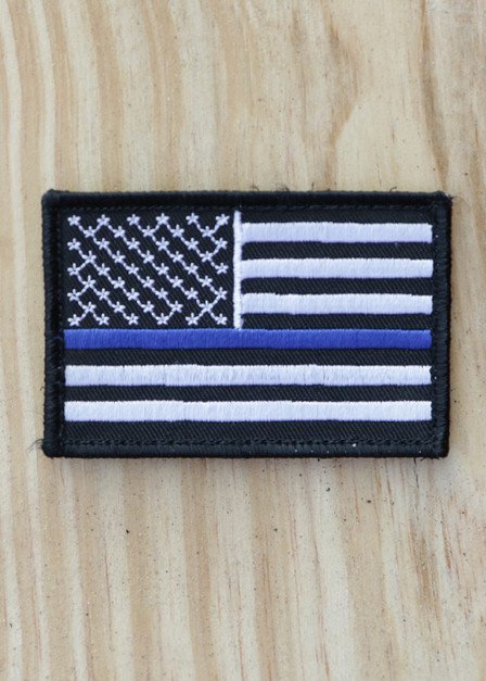 Thin Blue Line - Black and White Patch