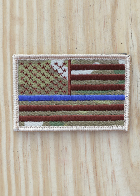 Thin Blue Line - Multicam Patch