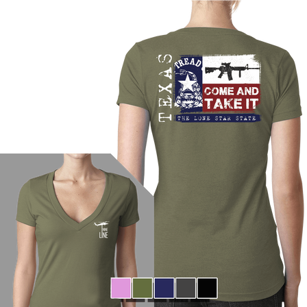Women's V-Neck - Texas Come And Take It