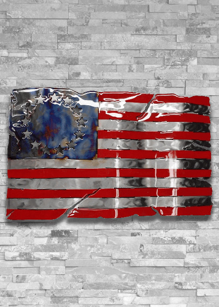 Molten Metal Sign - Betsy Ross