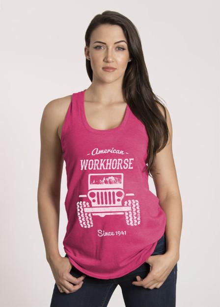 Women's Racerback Tank - American Workhorse