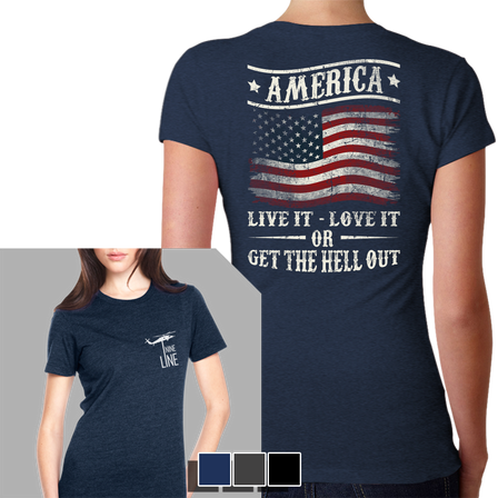 Womens T-Shirt -  Get The Hell Out