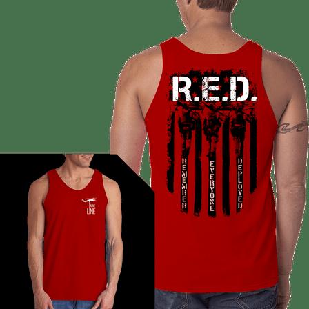 Jersey Tank - RED Remember Everyone Deployed