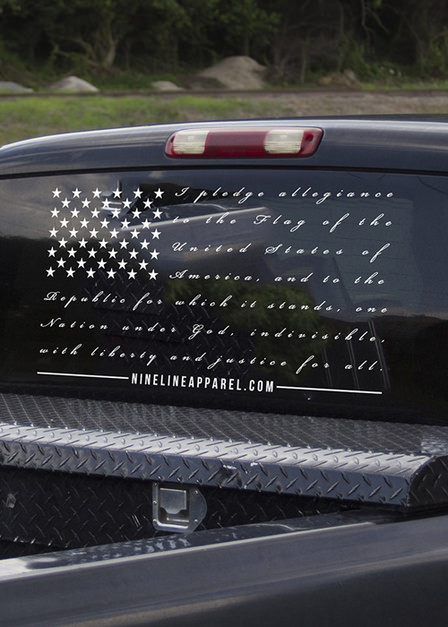 Vinyl Decal - The Pledge