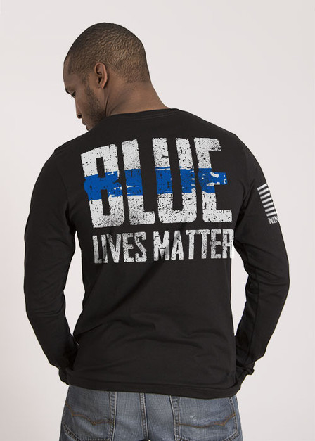 Mens Long Sleeve - Blue Lives Matter