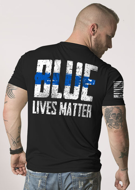 Mens Moisture Wicking T-Shirt - Blue Lives Matter