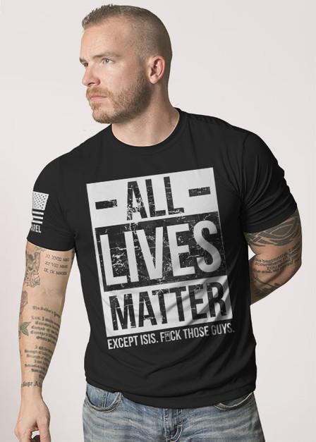 Mens Moisture Wicking T-Shirt - All Lives Matter