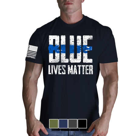 """Mens T-Shirt - Blue Lives Matter """"Front"""""""