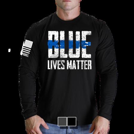 "Mens Long Sleeve - Blue Lives Matter ""Front"""