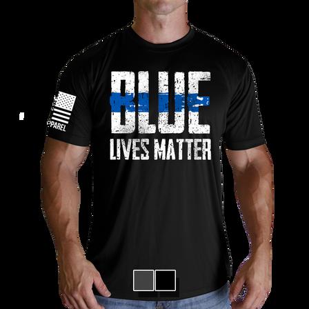 """Mens Moisture Wicking T-Shirt - Blue Lives Matter """"Front"""""""