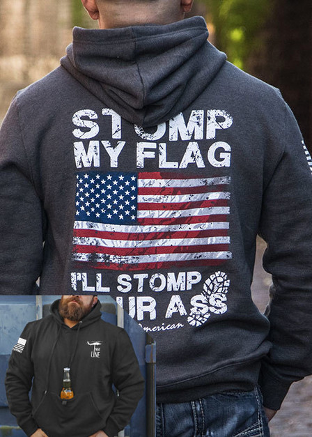 Tailgater Stout Hoodie - I'll Stomp You (full color)