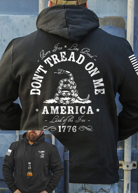 Tailgater Stout Hoodie - Dont Tread On Me