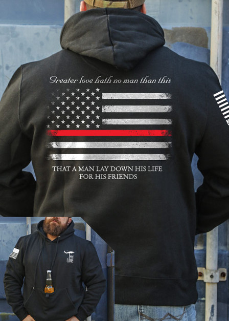 Tailgater Stout Hoodie - Thin Red Line