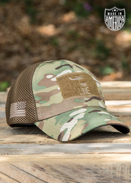 American Made Mesh Back Hat with Drop Line