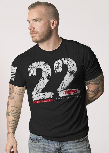 Mens Moisture Wicking T-Shirt - 22 A Day
