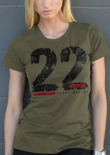 Womens T-Shirt - 22 A Day