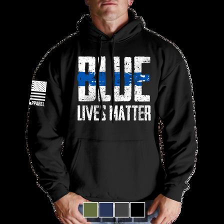 "Hoodie - Blue Lives Matter ""Front"""