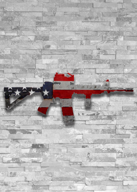 Molten Metal Sign - American Flag AR