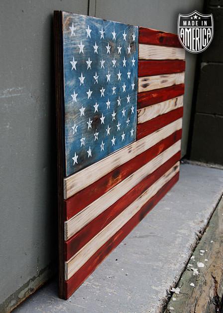 American Flag - Wooden Flag Color (No Box)