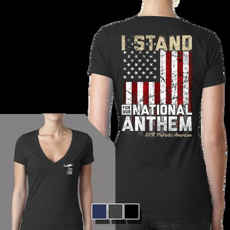 Women's V-Neck - I Stand