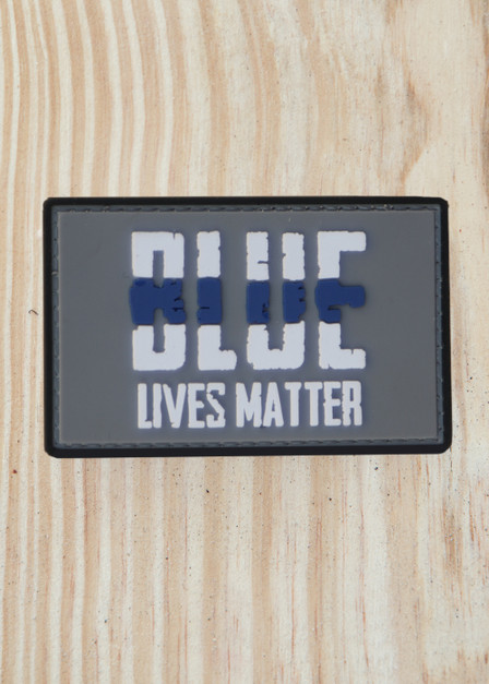 Blue Lives Matter PVC Patch