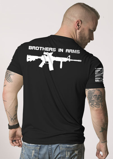 Brothers in Arms Drop Line/Rifle - Moisture Wicking T-Shirt