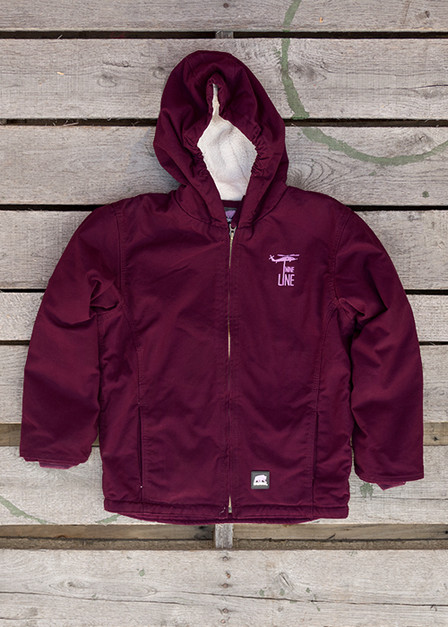 Youth Plum Jacket - Drop Line