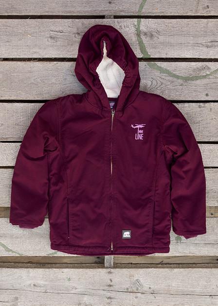 Youth Plum Jacket - Drop Line