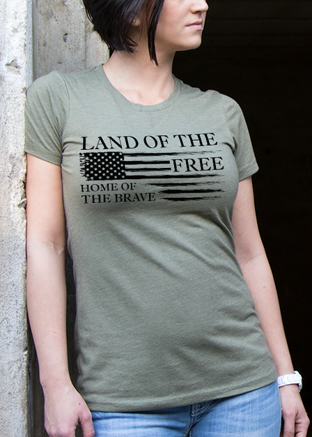 Womens Tee - Home of the Brave Collection