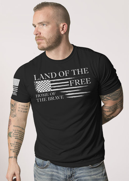 Men's Moisture Wicking T-Shirt - Home of the Brave Collection