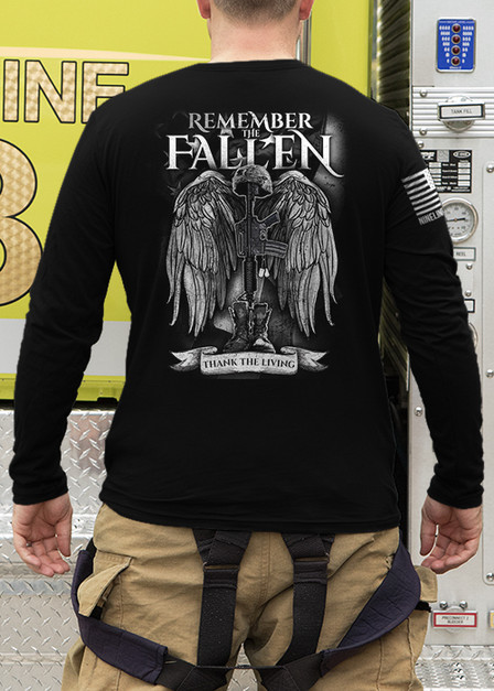 Mens Long Sleeve - Remember the Fallen Version 2