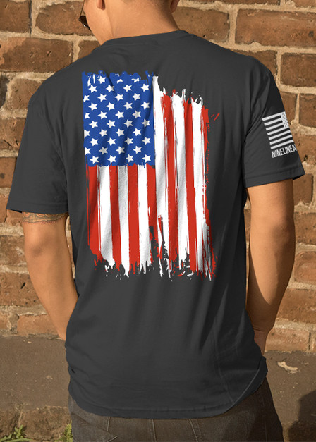 Moisture Wicking T-Shirt - American Flag