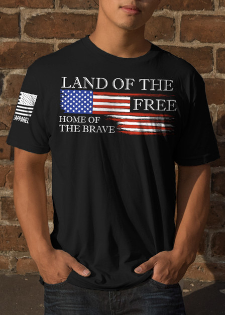 Moisture Wicking T-Shirt - Land of the Free