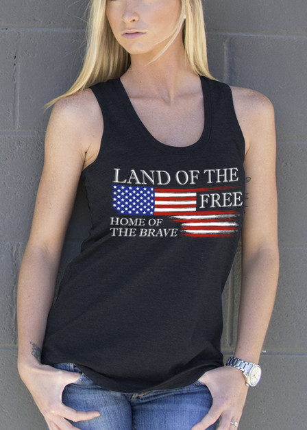 Women's Racerback Tank - Land of the Free