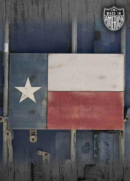 Texas Flag Wooden Flag (No Box)