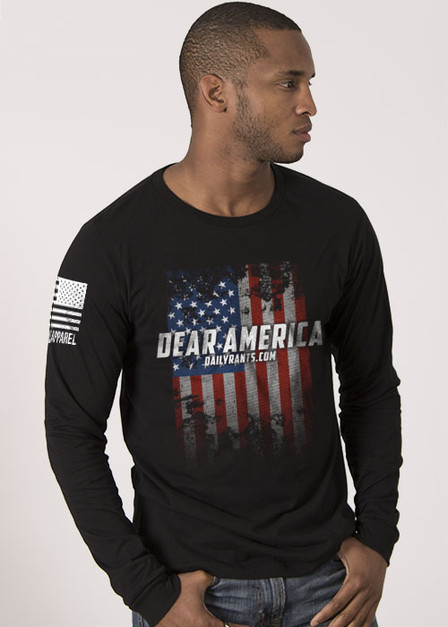 Mens Long Sleeve -  Dear America