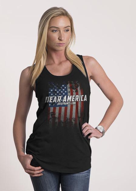 Women's Racerback Tank - Dear America