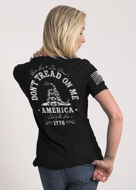 Women's Relaxed Fit T-Shirt - Don't Tread On Me