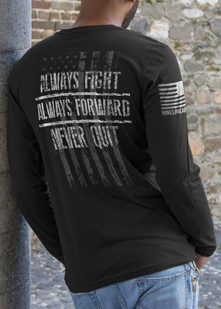 Mens Long Sleeve - Always Fight
