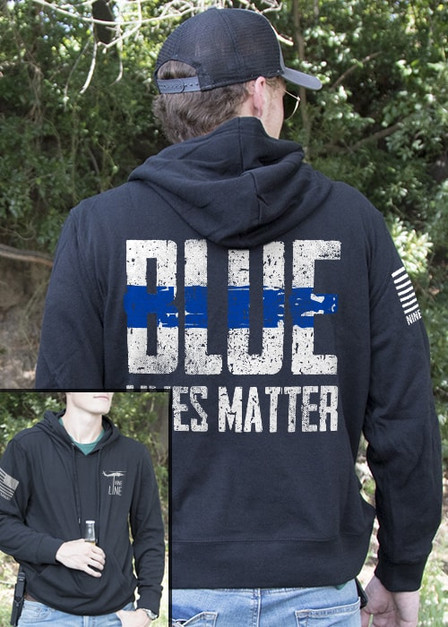 Light Weight Tailgater Hoodie - Blue Lives Matter