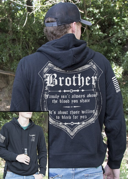 Light Weight Tailgater Hoodie - Blood and Family