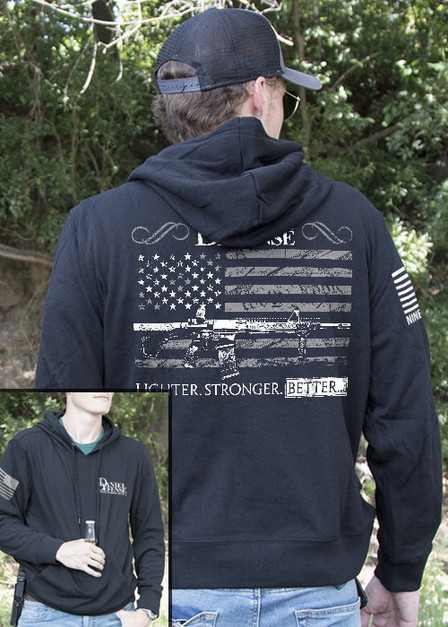 Light Weight Tailgater Hoodie - Daniel Defense Old Glory