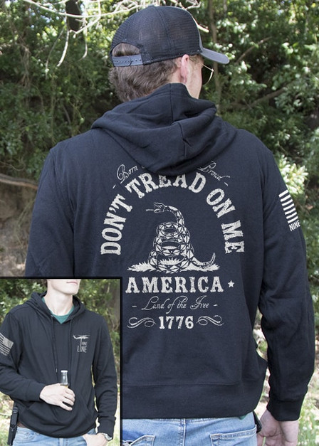 Light Weight Tailgater Hoodie - Don't Tread On Me