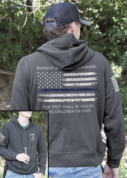 Light Weight Tailgater Hoodie - Thin Blue Line
