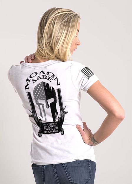 Women's Relaxed Fit T-Shirt - Molon Labe Spartan