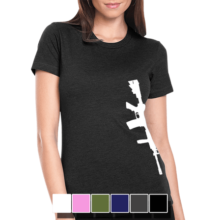 Womens Tee - Vertical Brothers In Arms Rifle