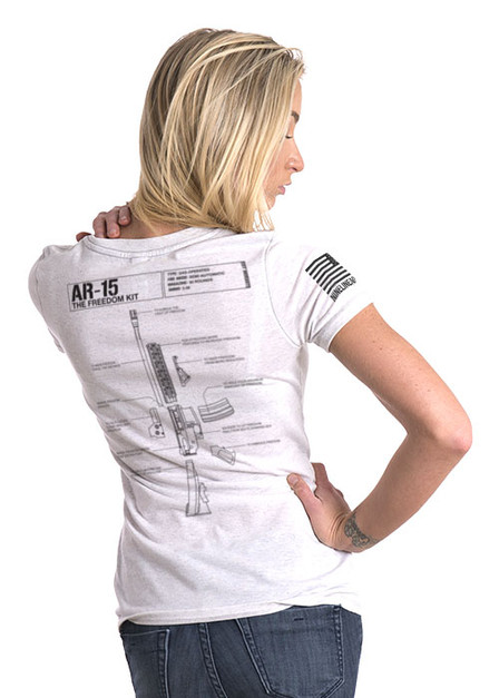 Women's Relaxed Fit T-Shirt - Schematic