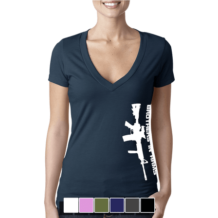 Vertical Brothers In Arms Rifle - Women's V-Neck