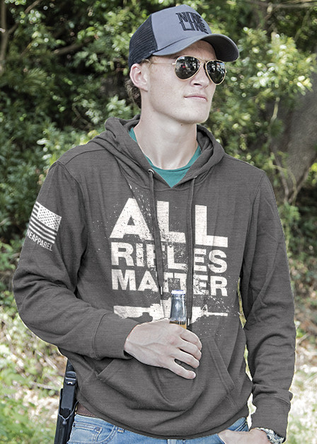 Light Weight Tailgater Hoodie - All Rifles Matter